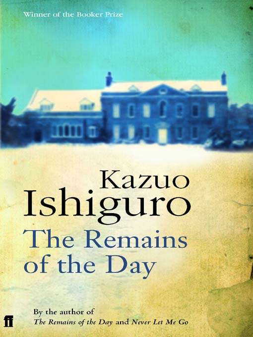 american and british books the remains of the day kazuo